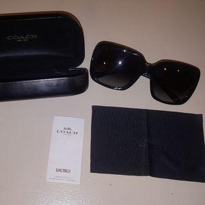 COACH Oversized Square Polarized Sunglasses